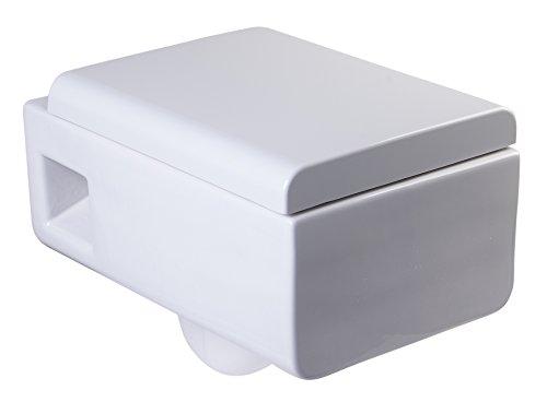 EAGO WD333 Square Modern White Ceramic Wall...
