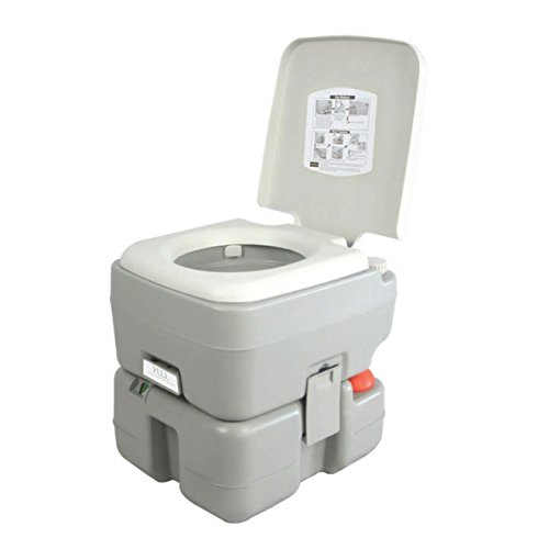 SereneLife Outdoor Portable Toilet with Carry...