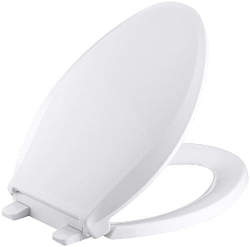 KOHLER K-4636-0 Cachet Elongated White Toilet...
