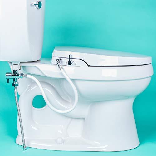 GenieBidet ELONGATED Seat-Self Cleaning Dual...
