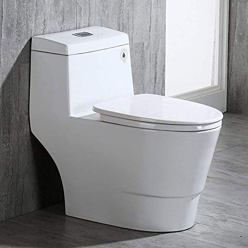 WoodBridge T-0001, Dual Flush Elongated One...