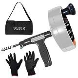 Drainx Pro 50-FT Heavy Duty Steel Drum Drain...