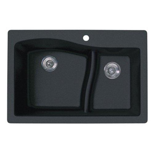Swanstone QZ03322LS.077 Granite 1-Hole Dual...