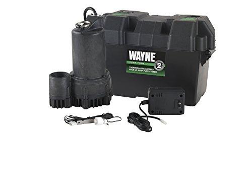 WAYNE ESP25 12 Volt Battery Back-Up Sump Pump...