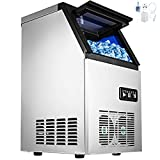 Happybuy 110V Commercial Ice Maker 120lbs/24h...