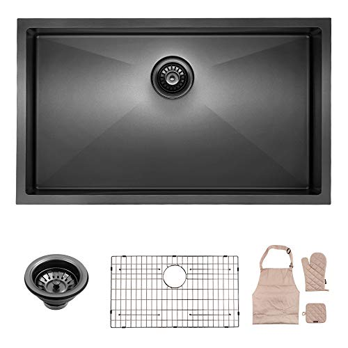 Lordear Black Kitchen Sink Commercial 32 Inch...