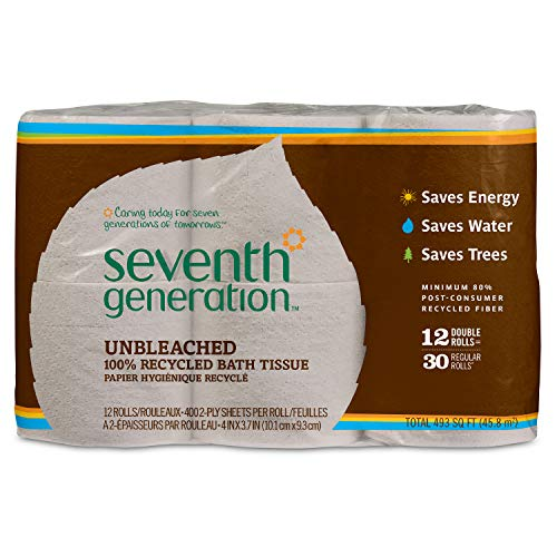 Seventh Generation Unbleached Bathroom Tissue...