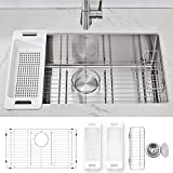 Modena Undermount Kitchen Sink Set, 16-Gauge...