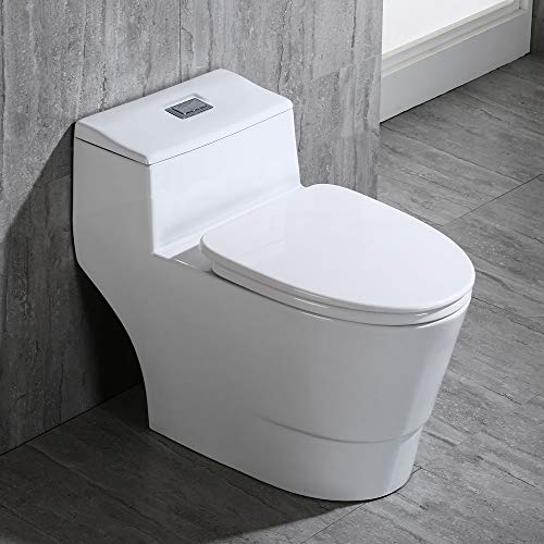 WOODBRIDGE B0735 B-0735, Dual Flush Elongated...