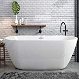 FerdY Freestanding Bathtub Gracefully Shaped...