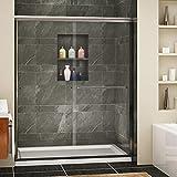 SUNNY SHOWER Semi-Frameless Shower Door Glass...