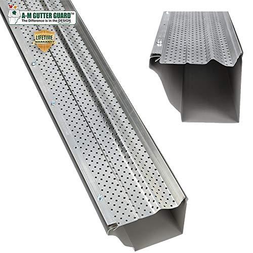 A-M Aluminum Gutter Guard 5' (200', Mill...