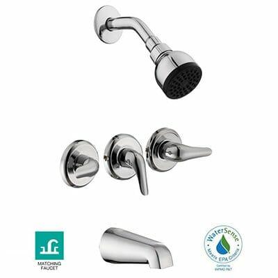 Glacier Bay Aragon 3-Handle 1-Spray Tub and Shower Faucet