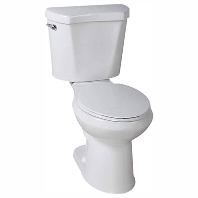 Glacier Bay #N2428E 2-Piece High-Efficiency Single Flush Elongated Toilet
