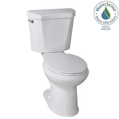 Glacier Bay #N2428RB 2-Piece High-Efficiency Single Flush Round Toilet