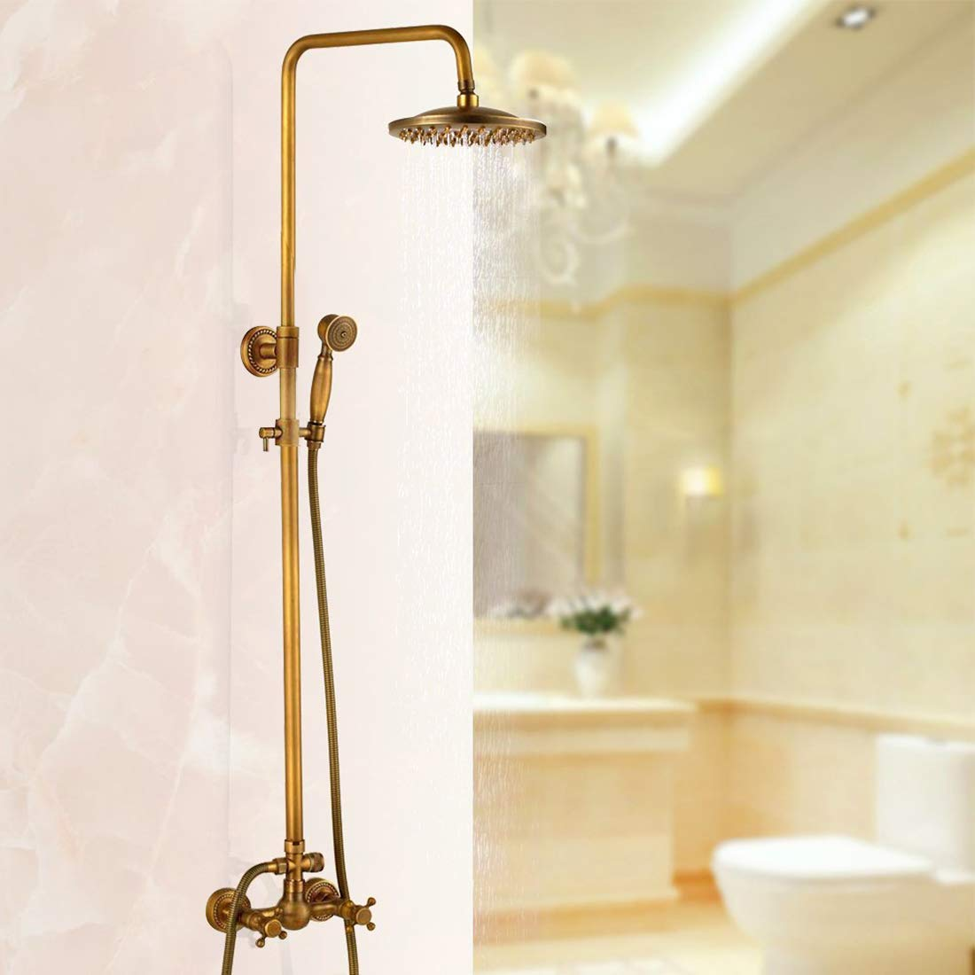 Antique Brass Bathroom Shower Faucet