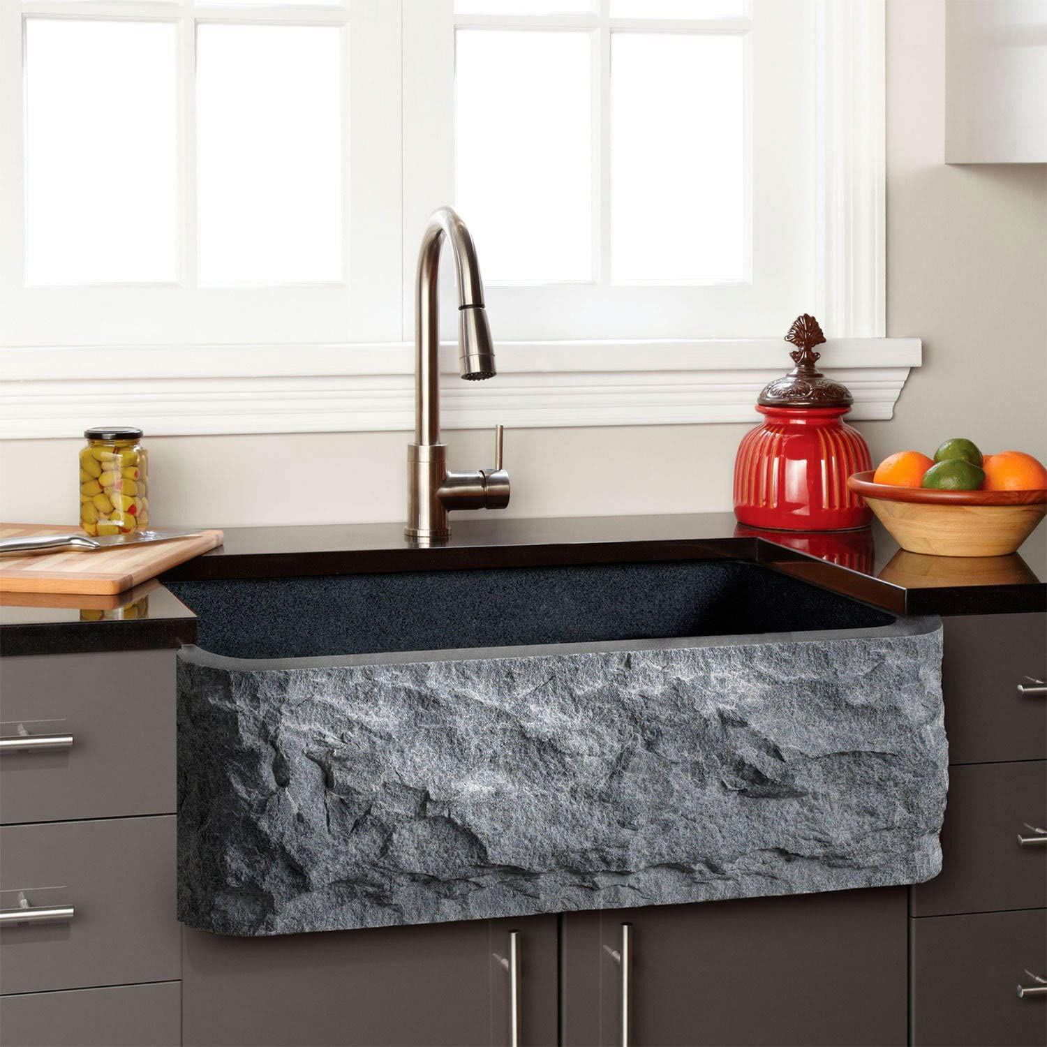 Signature Hardware Granite Farmhouse Sink