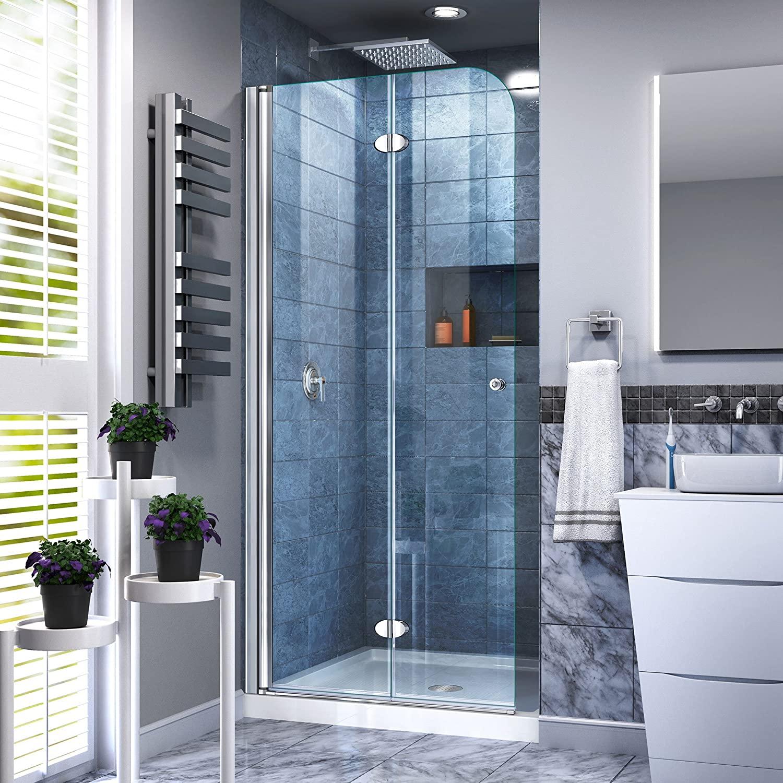 DreamLine Frameless Small Bathroom