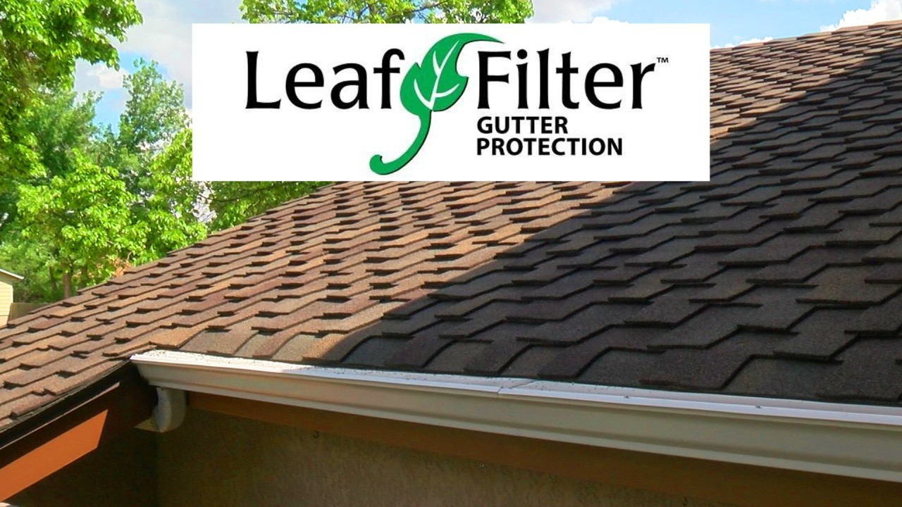 leaf filter with gutter